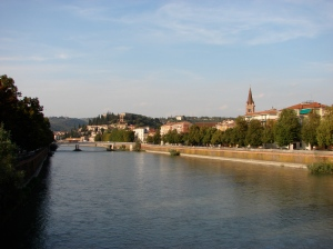 A view from a bridge in Verona